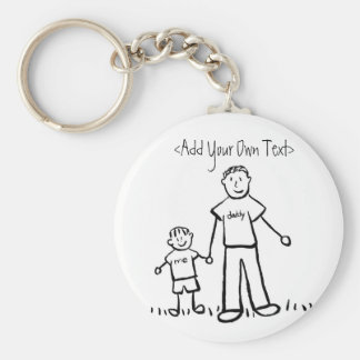 Daddy's Boy Keychain