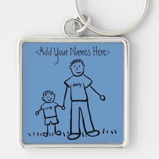 Daddy's Boy Keychain (Customize  Names)