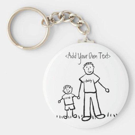 Daddy's Boy Keychain