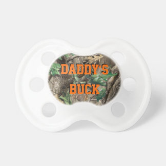Daddy's Buck Camo Baby Pacifier