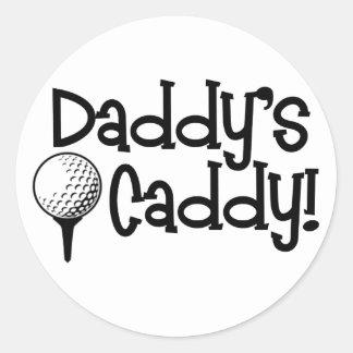Daddy's Caddy Classic Round Sticker