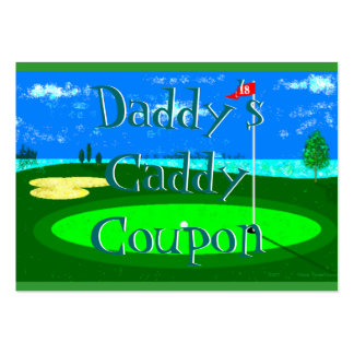 Daddy's Caddy Coupon Business Card Templates
