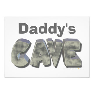Daddy's Cave Custom Name Stone Look Custom Announcement