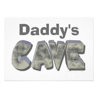 Daddy's Cave Custom Name Stone Look Custom Announcement