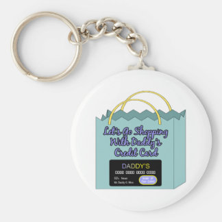 Daddy's Credit Card Basic Round Button Key Ring