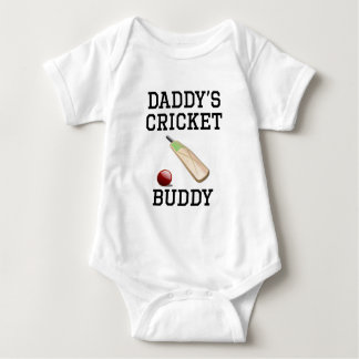 Daddy's Cricket Buddy Baby Bodysuit
