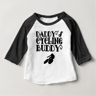Daddy's Cycling Buddy Baby T-Shirt