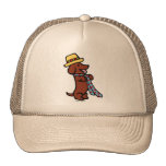 Daddy's Dachshund Cartoon Cap