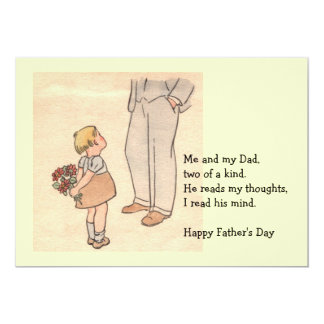 "Daddy's Day 5"" X 7"" Invitation Card"