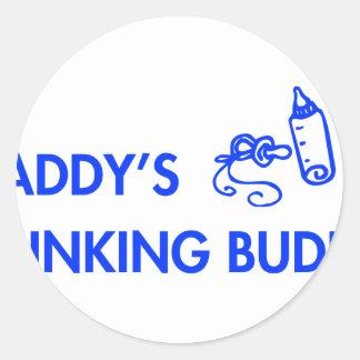 daddys-drinking-buddy-fut-blue.png round sticker