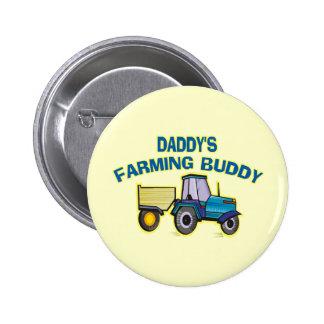 Daddy's Farming Buddy 6 Cm Round Badge