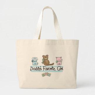 Daddy's Favorite Girl Jumbo Tote Bag