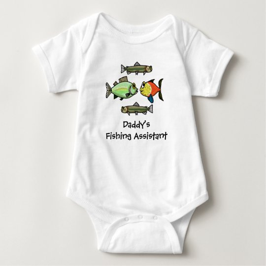 Daddy's Fishing Assistant Baby Shirt Customise It