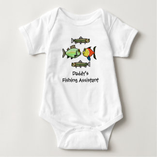 Daddy's Fishing Assistant Baby Shirt  Customize It