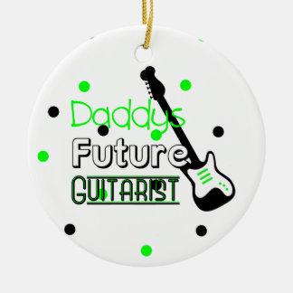 Daddys Future Guitarist Christmas Ornament
