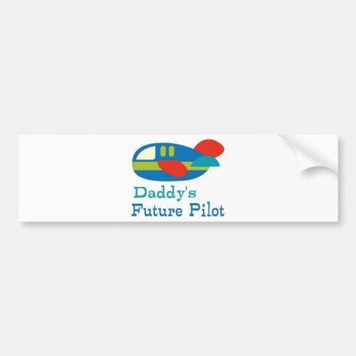 Daddy's Future Pilot Bumper Stickers