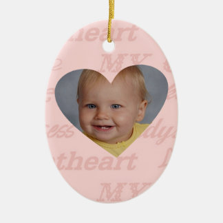 Daddys Girl Babys First Christmas Personalized Ceramic Oval Decoration