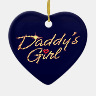 Daddy's girl ceramic heart decoration