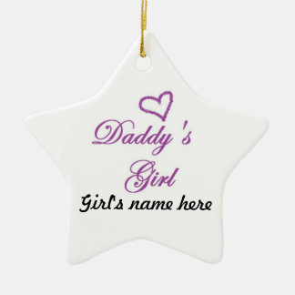 Daddys Girl Ceramic Star Decoration