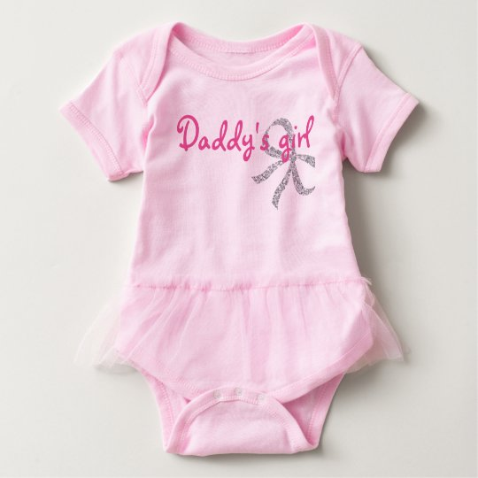Daddy's girl cute baby tutu baby bodysuit