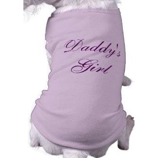 Daddy's Girl Sleeveless Dog Shirt