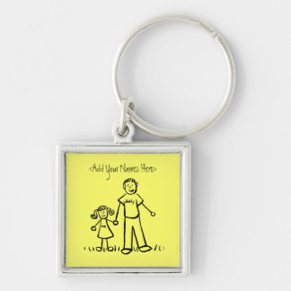 Daddy's Girl Drawing Keychain (Custom Names)
