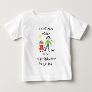 daddy's girl funny, rude illustration baby T-Shirt