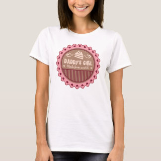 Daddys Girl Made From Scratch Funny T-Shirt