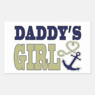 Daddy's Girl Nautical Rectangular Sticker