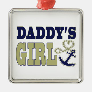 Daddy's Girl Nautical Silver-Colored Square Decoration