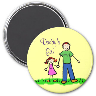 Daddy's Girl Personalized Family Art Magnets