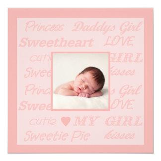 Daddy's Girl Photo Birth Announcement