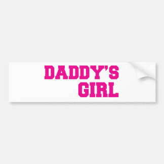 daddys girl pink bumper sticker