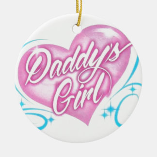 Daddy's Girl Round Ceramic Decoration