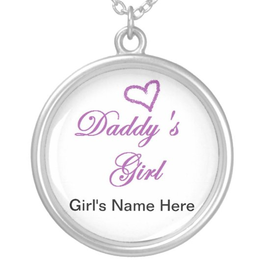 Daddys Girl Silver Plated Necklace