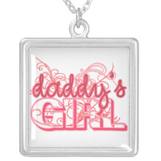 Daddy's Girl Sweet Pink Graphic Silver Plated Necklace