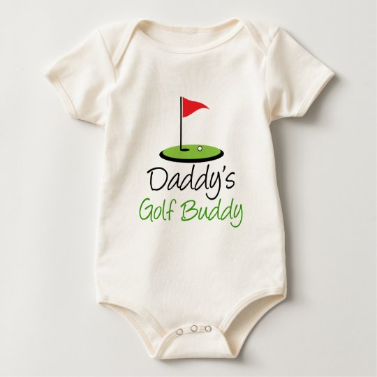 Daddy's Golf Buddy Baby Bodysuit