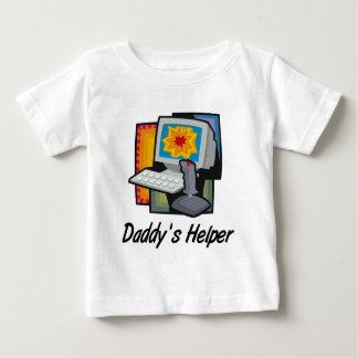 Daddy's Helper Computer Games Baby T-Shirt