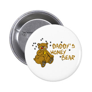 Daddy's Honey Bear 6 Cm Round Badge