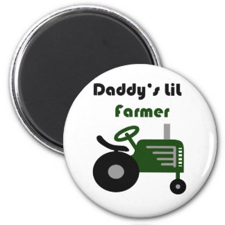 Daddy's Lil Farmer 6 Cm Round Magnet