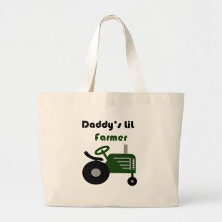 Daddy's Lil Farmer Canvas Bags