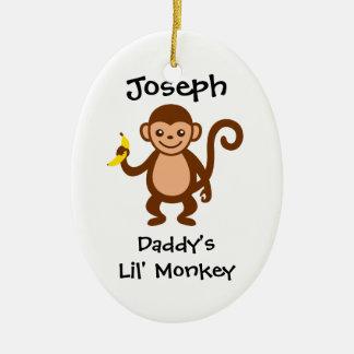 Daddys Lil Monkey Christmas Ornament