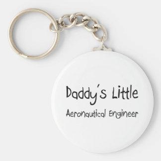 Daddy's Little Aeronautical Engineer Basic Round Button Key Ring