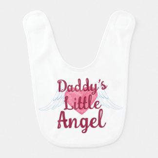 Daddy's Little Angel Baby Bib