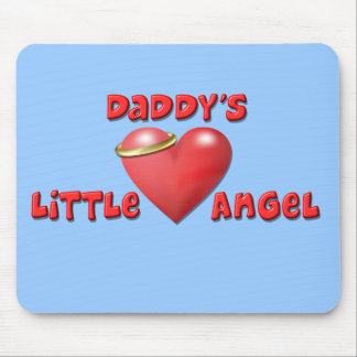 Daddy's Little Angel Mousepads