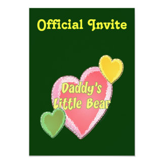 Daddy's Little Bear Personalized Announcements