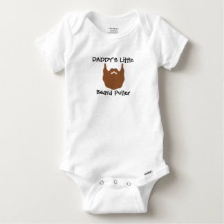 Daddy's Little Beard Puller Baby Onesie