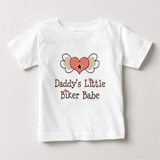 Daddy's Little Biker Babe Baby Girl Tee