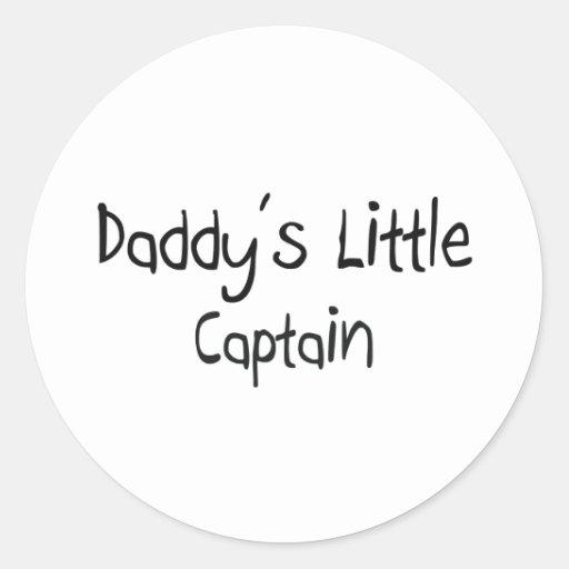 Daddy's Little Captain Sticker
