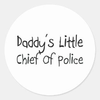 Daddy's Little Chief Of Police Round Sticker